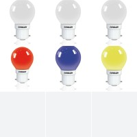 Eveready 0.5 W Standard B22 LED Bulb(White, Yellow, Red, Blue, Pack of 6)