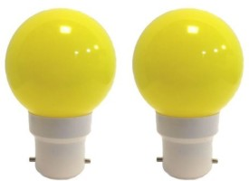 Ornate 0.5 W LED Bulb (Yellow, Pack of 2)
