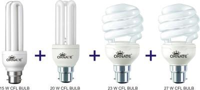 Ornate B22 CFL 15 W, 20 W, 23 W, 27 W Bulb