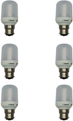 Oreva 1W LED Bulb (White, Pack of 6)