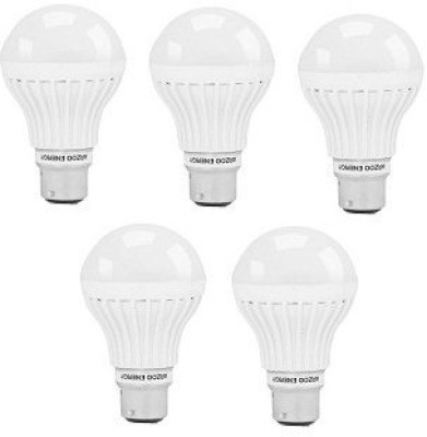 Arzoo 3W B22 LED Bulb (White, Pack of 5)