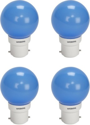 Webers 0.5W Decorative LED Bulb (Blue, Pack of 4)
