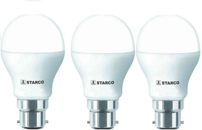 STARCO 9W B22D LED Bulb (White, Pack of 3)