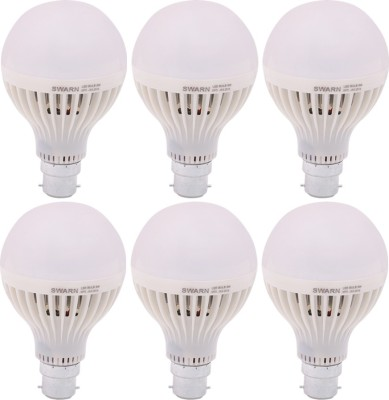 Swarn-9W-B22-800L-LED-Bulb-(White,-Pack-Of-6)