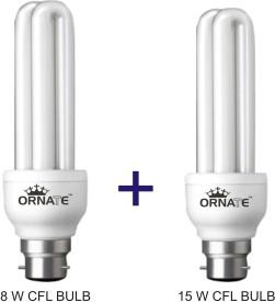 Ornate 8W, 15W CFL Bulbs (White)
