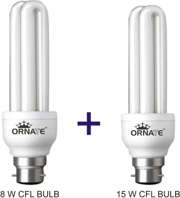 Ornate-8W,-15W-CFL-Bulbs-(White)