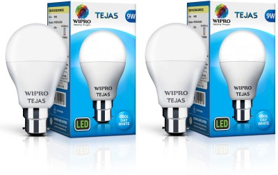 Wipro Tejas 9 W Standard B22 LED Bulb(White, Pack of 2)