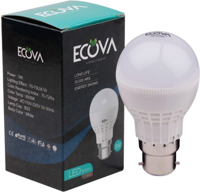 Ecova 3W LED Bulb (White, Pack of 3)