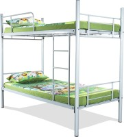 FurnitureKraft Rome Metal Bunk Bed(Finish Color - Silver)