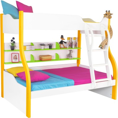 Alex Daisy Cloumbia Engineered Wood Bunk Bed(Finish Color - White, Yellow & Green)