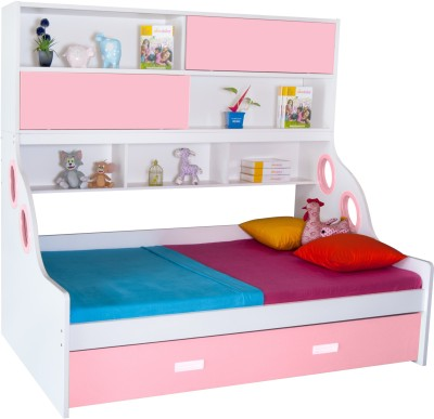 Alex Daisy Hybrid Engineered Wood Bunk Bed(Finish Color - Pink & White)