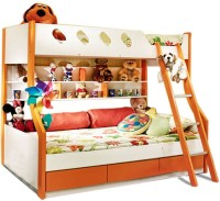 HomeTown Deccan Engineered Wood Bunk Bed(Finish Color - Orange)