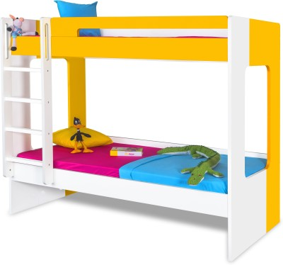 Alex Daisy Manhattan Engineered Wood Bunk Bed(Finish Color - Mango Yellow)
