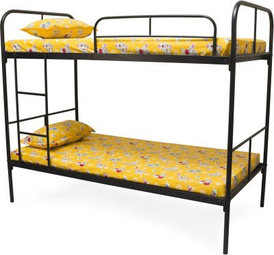 FurnitureKraft Metal Bunk Bed(Finish Color - Black)