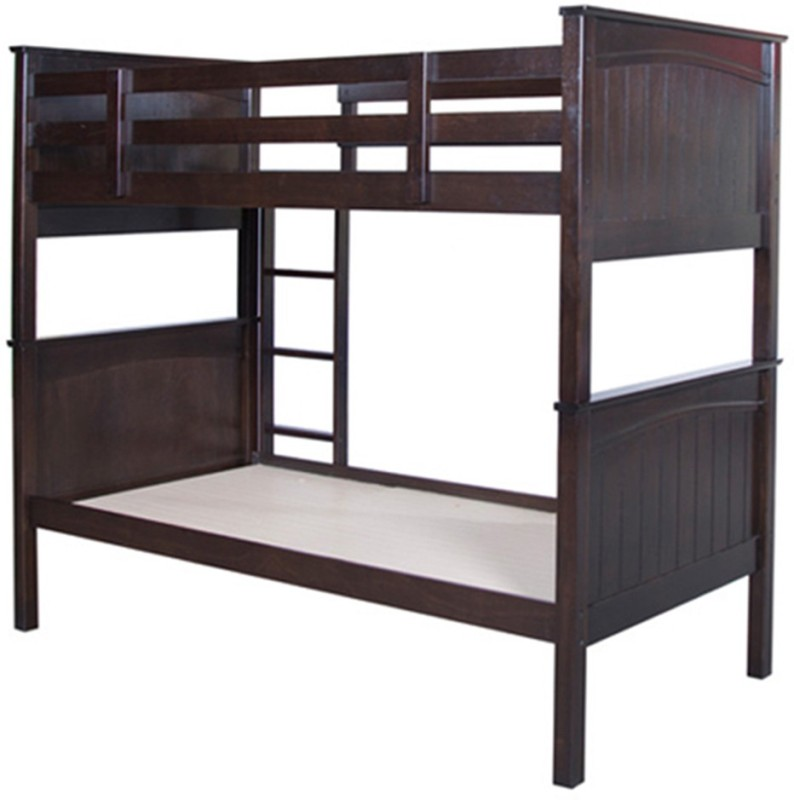HomeTown Solid Wood Bunk Bed(Finish Color - Cappuccino)