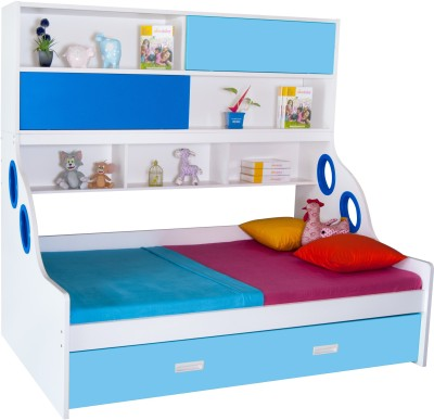 Alex Daisy Hybrid Engineered Wood Bunk Bed(Finish Color - Blue & White)