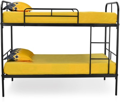 @home by Nilkamal Metro Metal Single Bed(Finish Color -  Black)