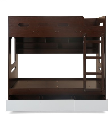 @home by Nilkamal Trivor Engineered Wood Bunk Bed(Finish Color - Dark Walnut)