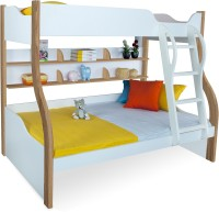 Alex Daisy Cloumbia Engineered Wood Bunk Bed(Finish Color - Oak & White)