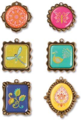 Sizzix 658600 Moroccan Metal Frame Embellishments Fabric Buttons