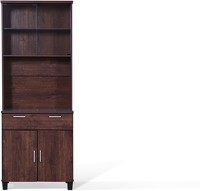 Urban Ladder Portland 4-Door Engineered Wood Free Standing Cabinet(Finish Color - Walnut)