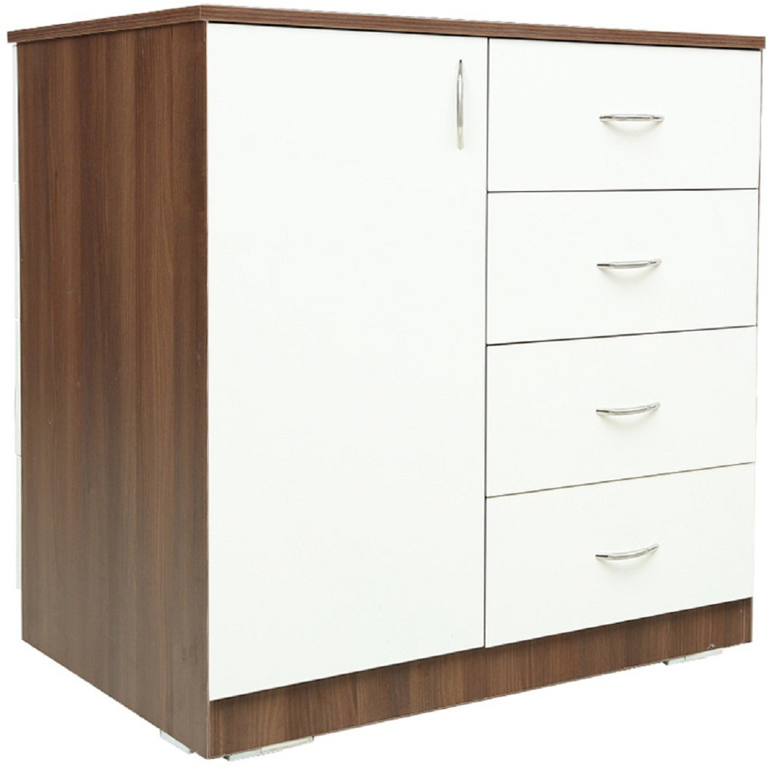 View RAWAT PUTIN Engineered Wood Free Standing Cabinet(Finish Color - Wallnut, Door Type- Hinged) Furniture (RAWAT)