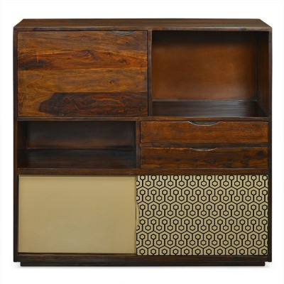 @home by Nilkamal Matrix Solid Wood Free Standing Cabinet