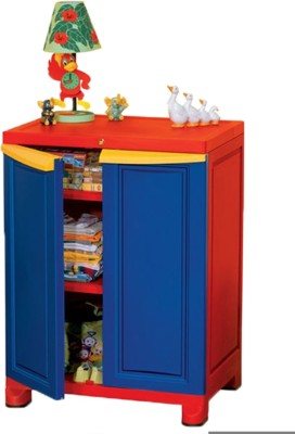 Nilkamal Plastic Free Standing Cabinet(Finish Color - Red)