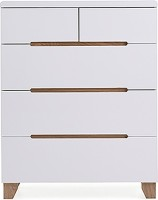 Urban Ladder Oslo Engineered Wood Free Standing Chest of Drawers(Finish Color - White)