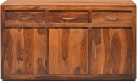 @home by Nilkamal Delmonte Solid Wood Free Standing Sideboard(Finish Color - Walnut)