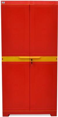 Nilkamal Freedom Mini Medium Storage Cabinet Plastic Free Standing Chest of Drawers(Finish Color - B.Red & Yellow)