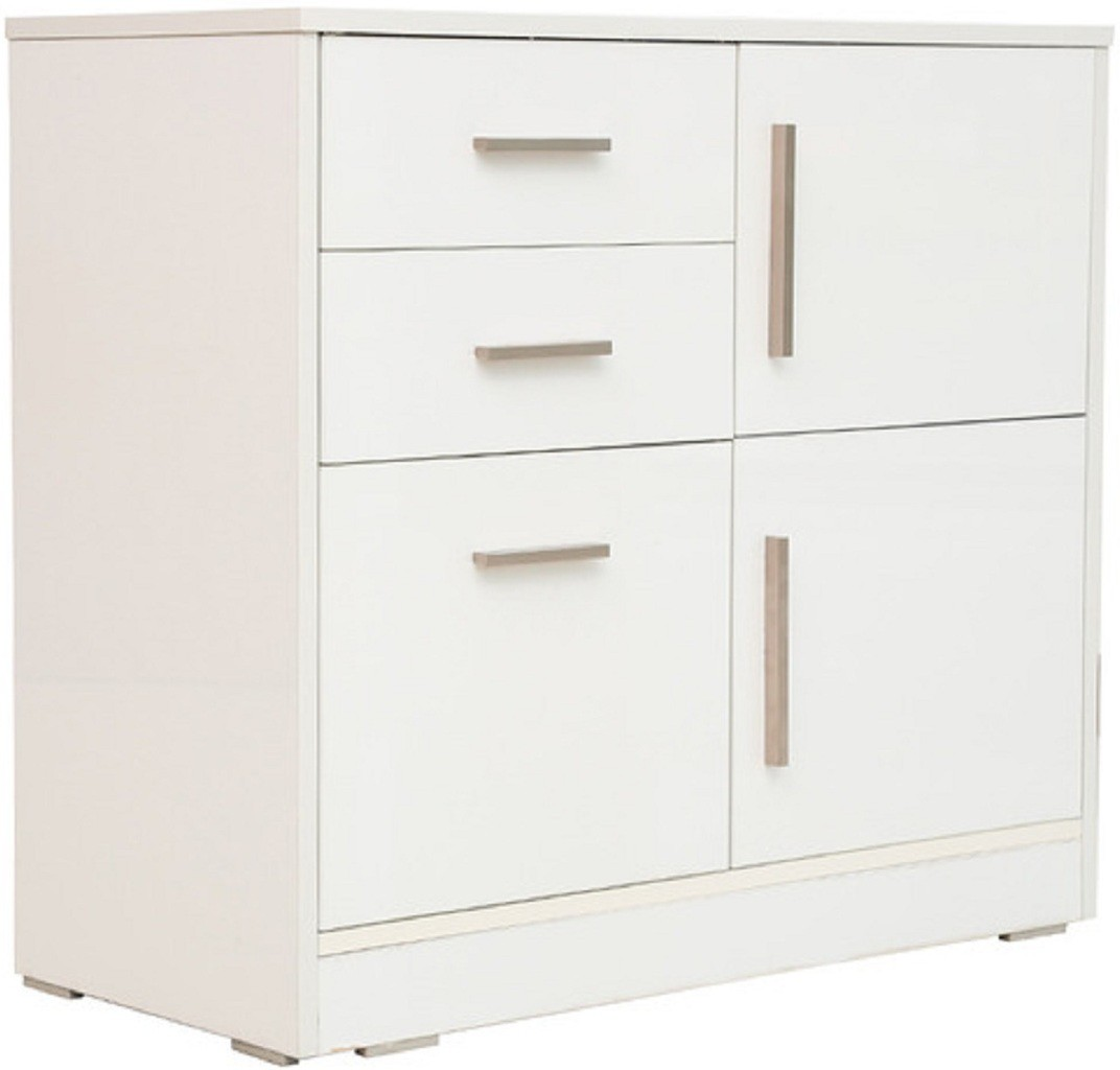 View RAWAT GARRISON Engineered Wood Free Standing Cabinet(Finish Color - White, Door Type- Hinged) Furniture (RAWAT)