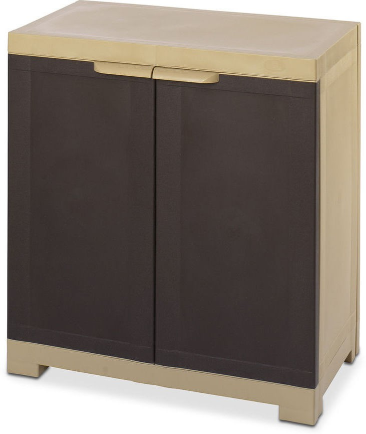 View Nilkamal Freedom Plastic Free Standing Cabinet(Finish Color - Weather Brown) Furniture