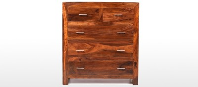 Jivan Solid Wood Free Standing Chest of Drawers(Finish Color - Walnut Brown)
