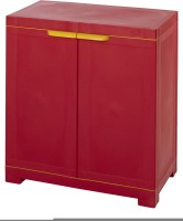 Nilkamal Plastic Free Standing Cabinet(Finish Color - Maroon)