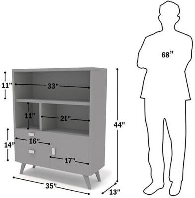 TEZERAC Solid Wood Free Standing Cabinet
