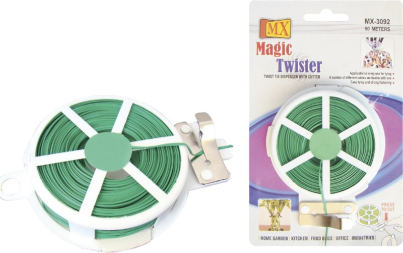 MX MX 3092 Nylon Standard Cable Tie(Green, Black, White Pack of 3)