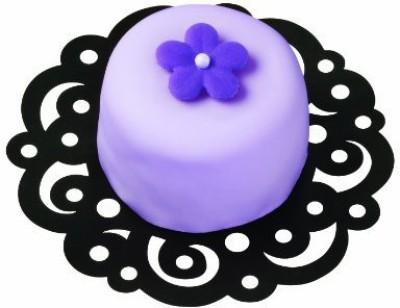 Wilton Wilton Black Swirl Cake Doilies Paper Cake Server