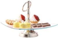 Borosil Glass Cake Server(Multicolor, Pack of 1)