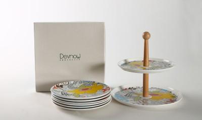 Devnow Porcelain Porcelain Cake Server