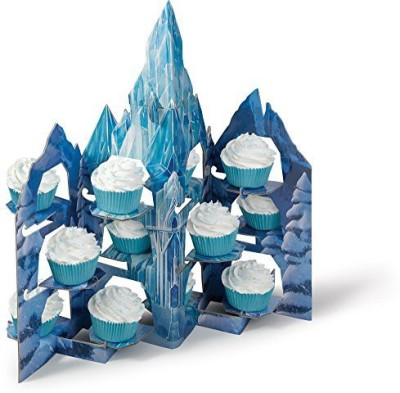 Wilton Industries 1512 8500 Frozen Castle Treat Stand/Assorted Glass Cake Server