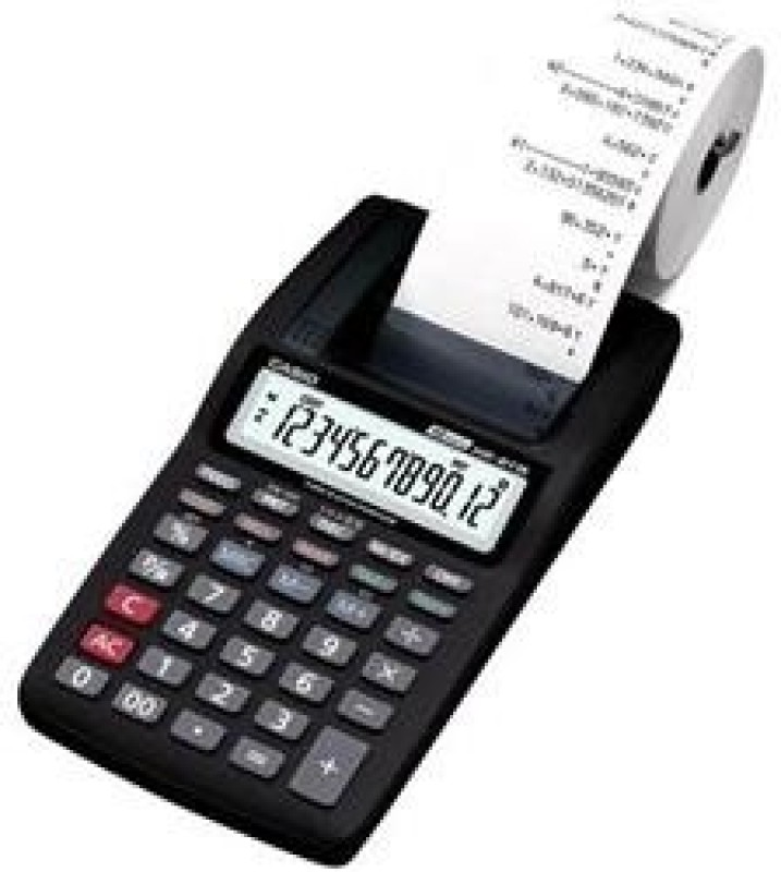 Casio HR-8TM-BK Printing  Calculator(12 Digit)