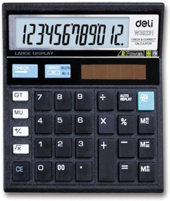 Deli 12 Digit Calculator Basic  Calculator