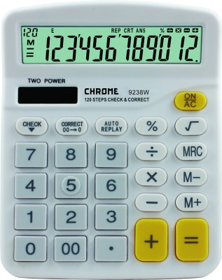 Chrome 9238W Basic  Calculator