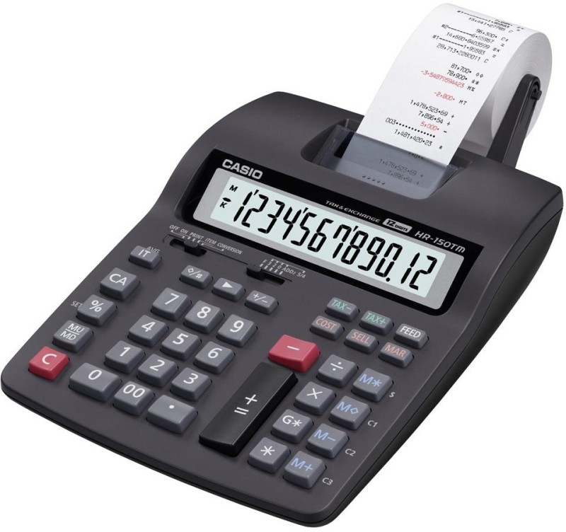 Casio HR-150TM Printing  Calculator(12 Digit)