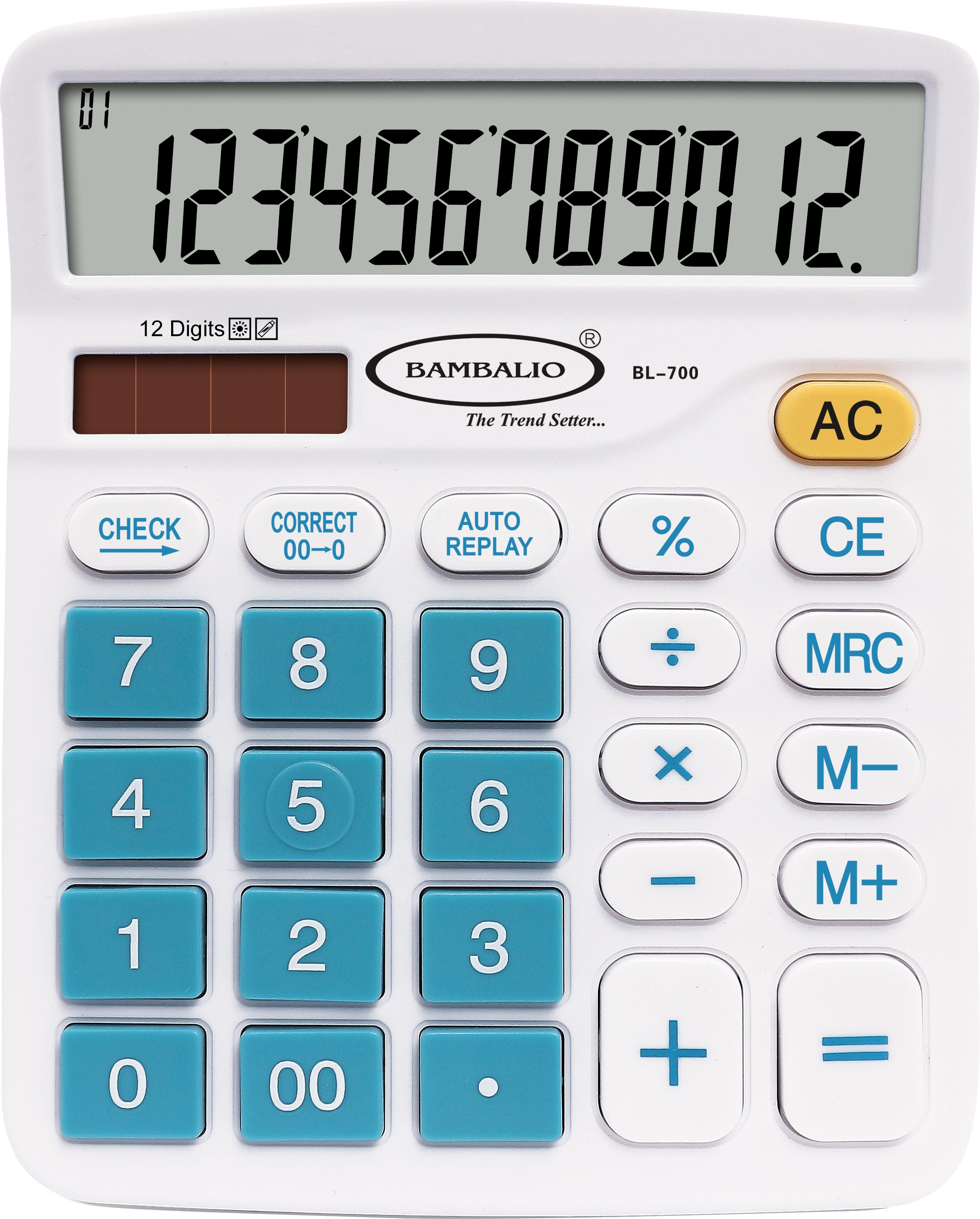 Bambalio 12 Digits Electronic Calculator(Blue) 2 Years Warranty BL-700 Basic  Calculator Flipkart