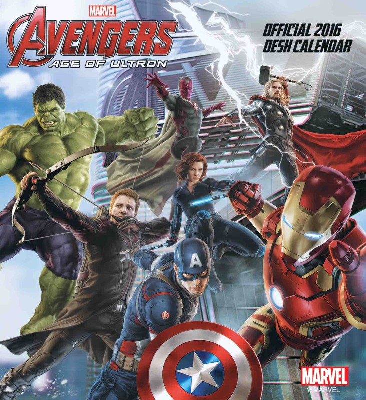 Bombay Merch Official Avengers Age Of Ultron 2016 Table Calendar(Multicolour, Avengers - Age of Ultron)