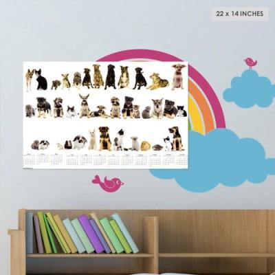 Exciting Lives Pets Calendar 2016 Wall Calendar