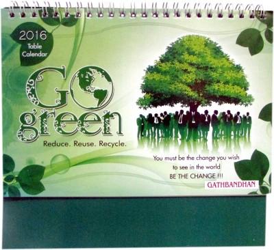 Gathbandhan Go Green 2016 Table Calendar