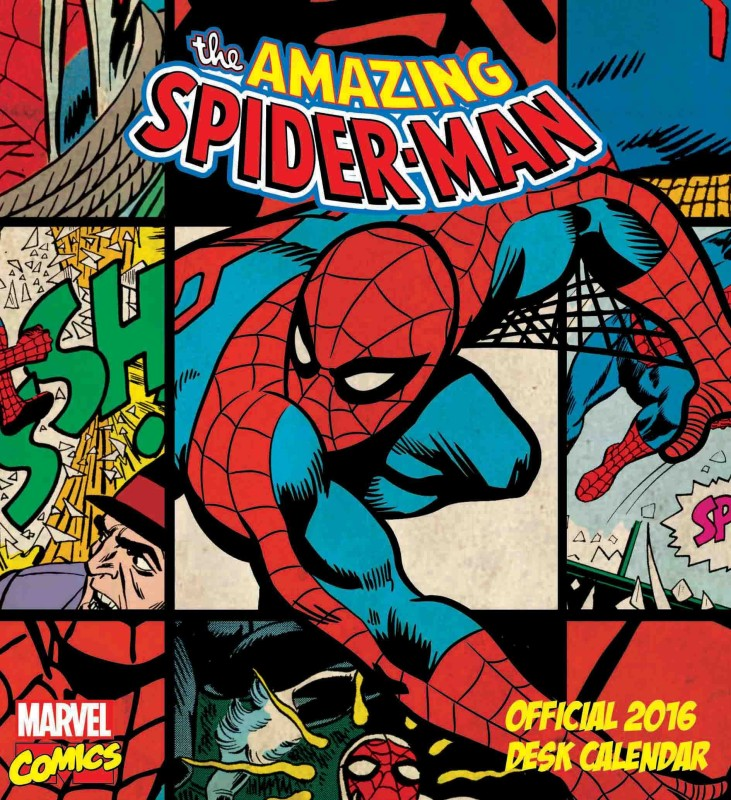 Bombay Merch Official The Amazing Spider-Man 2016 Table Calendar(Multicolour, The Amazing Spider- Man)